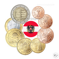 Itävalta 1s - 2 € 2005 UNC
