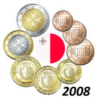 Malta 1s- 2 € 2008 UNC