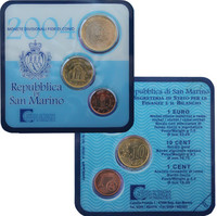 San Marino 2004 Minikit 1 c, 10 c, 1 €