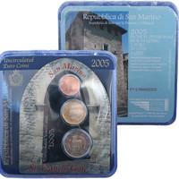 San Marino 2005 Minikit 2 c, 20 c, 2 €