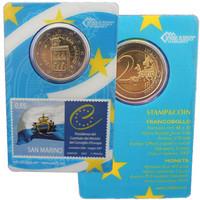 San Marino 2 € 2012 coincard 0,65 € postimerkillä
