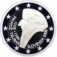 Slovenia 2 € 2008 Primoz Trubar PROOF