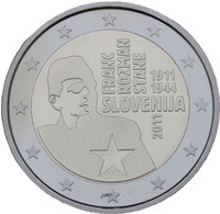 Slovenia 2 € 2011 Franc Rozman PROOF