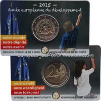 Belgia 2 € 2015 Kehitysyhteistyön teemavuosi coincard