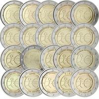 Euroopan Talous- ja rahaliitto EMU 2 € 2009 kaikki 20 kolikkoa