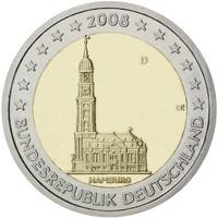 Saksa 2 € 2008 Hampuri / Pyhän Mikaelin kirkko