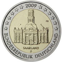 Saksa 2 € 2009 Saarland / Ludwigin kirkko