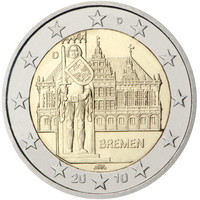 Saksa 2 € 2010 Bremen / Raatihuone & Roland