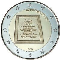 Malta 2 € 2015 Tasavalta 1974