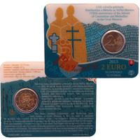 Slovakia 2 € 2013 Kontantinos & Metodios BU coincard