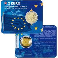 Slovakia 2 € 2015 EU:n lippu 30 vuotta BU coincard