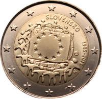 Slovakia 2 € 2015 EU:n lippu 30 vuotta