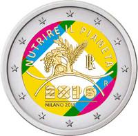 Italia 2 € 2015 Milano Expo väritetty