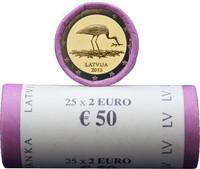 Latvia 2 € 2015 Mustahaikara rulla