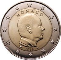 Monaco 2 € 2015 Albert II UNC