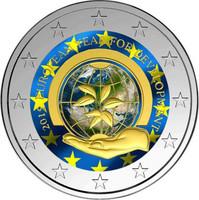Belgia 2 € 2015 Kehitysyhteistyön teemavuosi väritetty