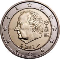 Belgia 2 € 2011 Albert II & monogrammi UNC