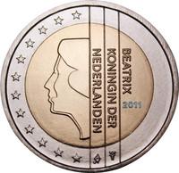 Alankomaat 2 € 2011 Beatrix UNC