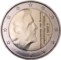 Alankomaat 2 € 2015 Willem-Alexander UNC