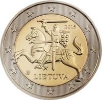 Liettua 2 € 2015 Vytis- hevosratsastaja UNC