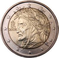 Italia 2 € 2008 Dante Alighieri UNC