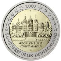 Saksa 2 € 2007 Mecklenburg / Schwerin Schloss
