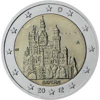Saksa 2 € 2012 Baijeri / Neuschwansteinin linna