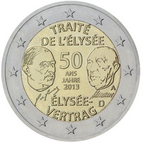 Saksa 2 € 2013 Élysée-sopimus 50 vuotta