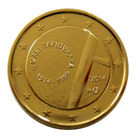 Suomi 2 € 2014 Ilmari Tapiovaara kullattu