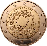 Alankomaat 2 € 2015 EU:n lippu 30 vuotta