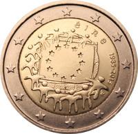 Irlanti 2 € 2015 EU:n lippu 30 vuotta