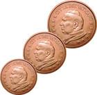 Vatikaani 1, 2 & 5 senttiä 2004 pillereissä BU
