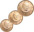 Vatikaani 10, 20 & 50 senttiä 2009 BU