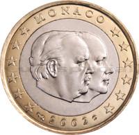 Monaco 1 € 2002 Albert II & Rainier III