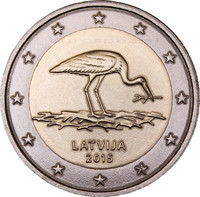 Latvia 2 € 2015 Mustahaikara