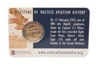 Malta 2 € 2015 Ensimmäinen lento 100 vuotta coincard BU