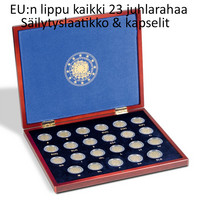EU:n lippu 30 vuotta 23 kpl sarja laatikossa kapseleineen