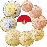 Monaco 1s - 2 € 2001 UNC