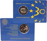 Viro 2 € 2015 EU:n lippu 30 vuotta BU coincard