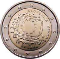 Slovenia 2 € 2015 EU:n lippu 30 vuotta
