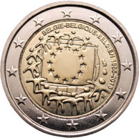 Belgia 2 € 2015 EU:n lippu 30 vuotta