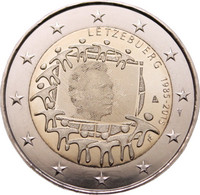 Luxemburg 2 € 2015 EU:n lippu 30 vuotta