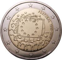 Portugali 2 € 2015 EU:n lippu 30 vuotta
