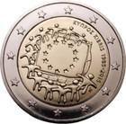 Kypros 2 € 2015 EU:n lippu 30 vuotta