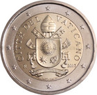 Vatikaani 2 € 2017 Vatikaanin vaakuna BU pillerissä