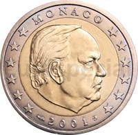 Monaco 2 € 2001 Rainier III UNC