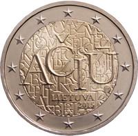 Liettua 2 € 2015 Liettuan Kieli