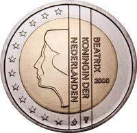 Alankomaat 2 € 2000 Beatrix UNC
