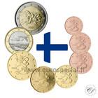Suomi 1s - 2 € 1999 UNC Kaksi yhdeksikköä ummessa