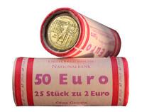 Itävalta 2 € 2016 Itävallan keskuspankki 200 v. rulla